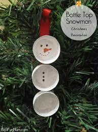 easy christmas tree ornament u2013 the bottle top snowman be a fun mum