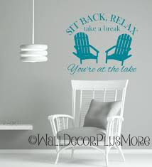 sit back relax camping wall art decal summer quote with chairs sit back relax camping wall art decal summer quote with chairs loading zoom
