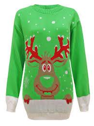 womens ladies mens knit xmas christmas jumper santa reindeer