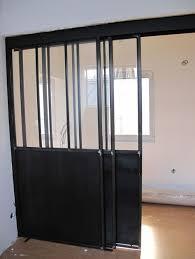 porte de bureau vitr enjoyable design cloison verriere coulissante verri re avec porte et soubassement en t le maison portes coulissantes jpg