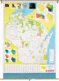 Wi State Map by Wisconsin State Political Map