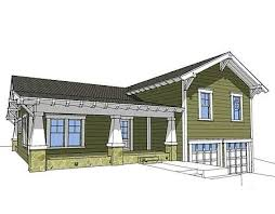 Split Level Homes Plans Plan 44067td Craftsman Split Level Craftsman Nursery And Front