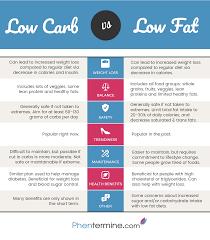 low carb vs low fat diet infographic phentermine blog
