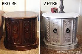 Chalk Paint Side Table Side Table Transformation Tuesday Find It Make It Love It