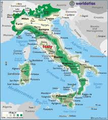 italy map italy large color map