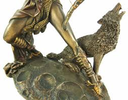 amazon com bronzed finish artemis moon goddess greek statue diana
