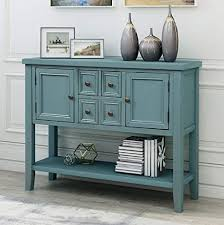 buffet sideboard cabinet storage kitchen hallway table industrial rustic console table sideboard buffet storage cabinet home furniture for entryway hallway with bottle shelf blue