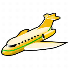 yellow clipart aeroplane pencil and in color yellow clipart