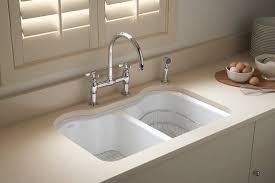 Undermount Cast Iron Kitchen Sink by Kohler K 5818 5u Fe Hartland Double Equal Undercounter Sink With