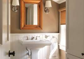 what color goes with brown bathroom cabinets bathroom color schemes smart choices for small spaces