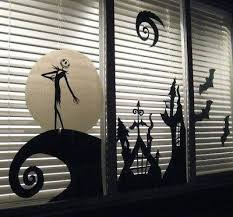 nightmare before window decals and spooky