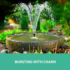 garden fountain pump home outdoor decoration