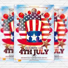 4th of july u2013 premium flyer template instagram size flyer