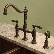 foret kitchen faucets bellevue bridge kitchen faucet with brass sprayer lever handles