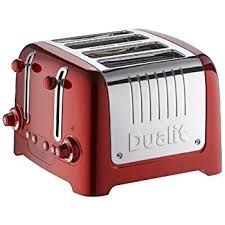 Dualit Toaster Timer Switch Dualit 4 Slot Vario Toaster 40353 Red Amazon Co Uk Kitchen U0026 Home