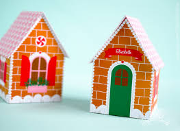 gingerbread house favor box gift box christmas place card