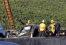 body of man ends up on freeway sign following l a wreck ny