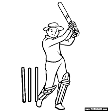 coloring page of a bat sports online coloring pages page 1