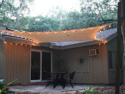 Awning Over Patio Exterior Patio Sails Sun Shades With Light Over Black Iron Dining