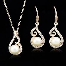 gold set for marriage beauty jewelry white gold set wedding bead marriage