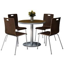 Break Room Table And Chairs by Kfi Seating Silver Base Cafe 36