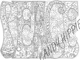 peace candyhippie coloring pages