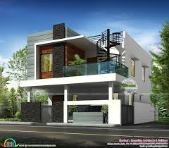 Flat Roof Contemporary Bhk Home