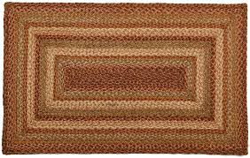Braided Throw Rugs Harvest Jute Braided Rugs Primitive Home Decors