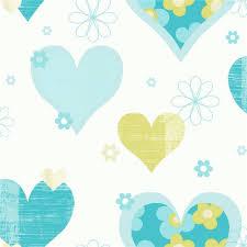 Wallpaper Borders Uk For Bedroom Arthouse Happy Hearts Flowers Childrens Kids Bedroom Wallpaper 533705