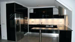 meuble cuisine noir laqué meuble de cuisine noir laque cuisine design meuble bas de cuisine