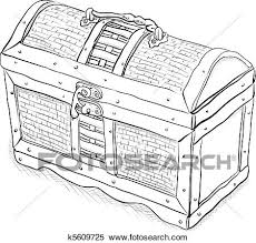 clipart of wooden pirate chest vector k5609725 search clip art