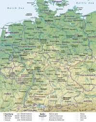 Map Of Bavaria Germany by Germany Physical Map Full Size
