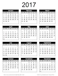 2017 us calendar printable 2017 calendar templates and images