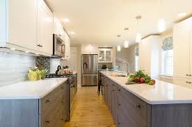 wood tone kitchen cabinets white shaker kitchen with wood cabinets ma