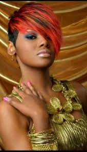 short cap like women s haircut burnt orange short hairstyles for black women orange shorts