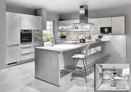 stunning white concrete finish of the riva german kitchen new for 2017 is the uber stylish riva german kitchen with a white concrete reproduction finish contemporary kitchen design style from kuchenworld