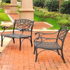 Aluminum Outdoor Patio Furniture by Crosley Furniture Sedona 2 Piece Cast Aluminum Outdoor