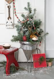 faux to real mini tree in a strainer wood presentfunky