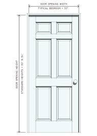 Standard Interior Door Size Standard Bedroom Door Height Interior Door Dimensions Standard