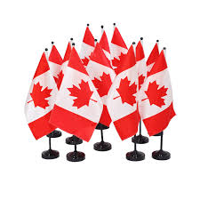 Canada Flag Colors Flying Colours International Canadian Flag Wavers Set Of 6