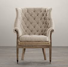 Velvet Wingback Chair Deconstructed 19th C English Wing Chair