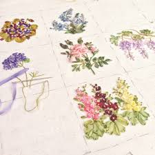ribbon embroidery flower garden garden party part 6 hydrangea hearty craft