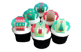 edible cake decorations christmas sweater cake decorations 12 edible cupcake