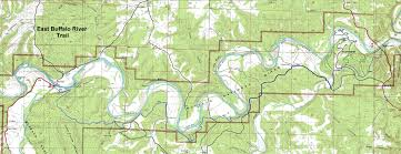 Ozarks Map Buffalo River Trail Eastern Section Free Detailed Topo Map