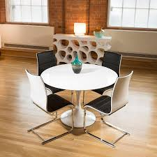 Gloss Dining Tables Tulip Style Dining Table White Gloss 4 Black White