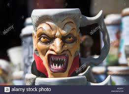 dracula pottery coffee mug for sale outside gift shop bran castle