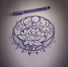 lunar phase lotus lunar phase mandala and lotus
