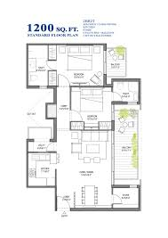 standard floor plan bhk sq ft customized including remarkable 1500