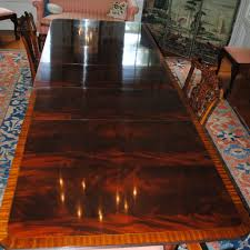 flame crotch mahogany stickley dining conference table 3 leaves