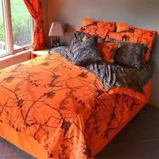 Orange Camo Bed Set The Ap Blaze Orange Camouflage Bedding Set Will Transform Your